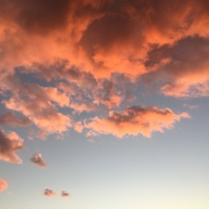 ピンク雲の画像