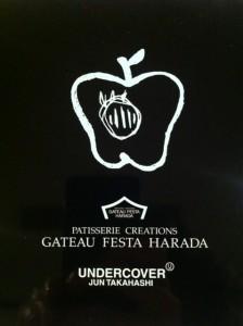 """お菓子の企画してみました """"GATEAU FESTA HARADA × UNDER COVER""""の画像"""