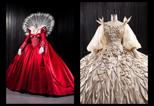 スワロフスキー銀座で映画『白雪姫と鏡の女王』衣装展を開催