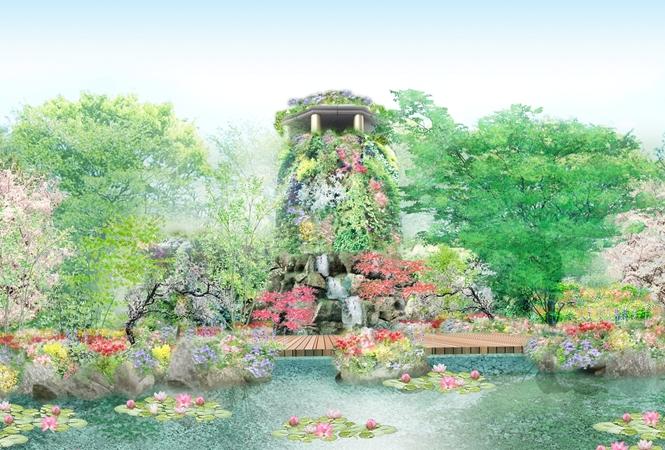ウェスティンホテル東京の敷地内に緑と花の庭園が4 月1日オープン