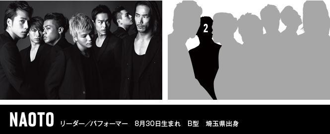 NAOTO リーダー/パフォーマー 8月30日生まれ B型 埼玉県出身