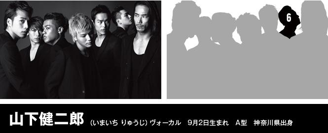 山下健二郎(いまいち りゅうじ)ヴォーカル 9月2日生まれ A型 神奈川県出身