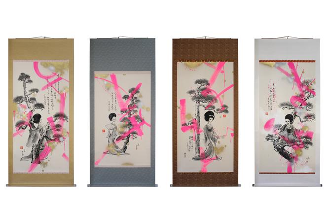 イラストレーター平松昭子のユニット「Masshiva」の展示会が代官山uniceで開催