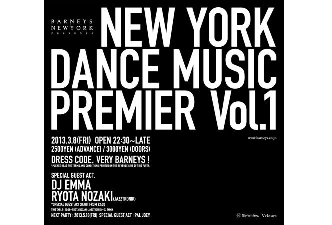 NEW YORK DANCE MUSIC PREMIER Vol.1 @Velours Minami Aoyama