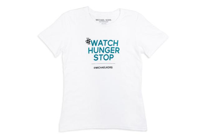 マイケル・コースが世界5都市で飢餓撲滅キャンペーン特別Tシャツを無料配布