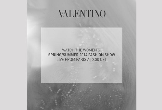 ヴァレンティノ2014年春夏のコレクションショウをライブ中継!
