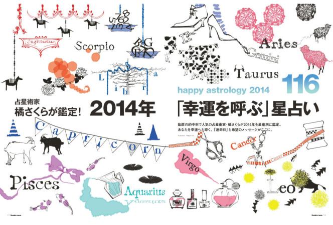 抜群の的中率! 橘さくらの2014年占いがNumero TOKYOの最新号に掲載