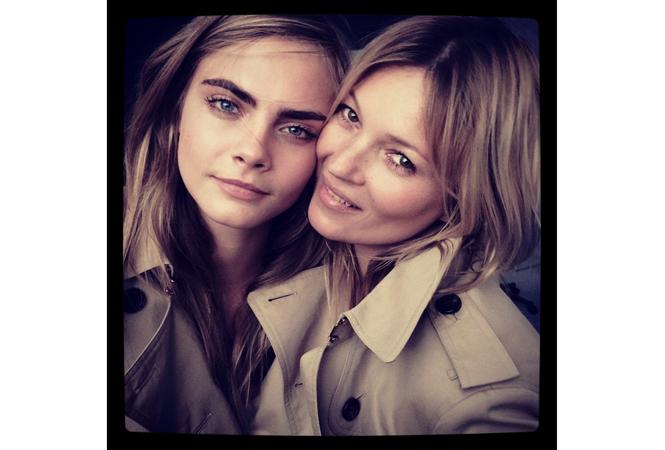 ケイト・モスとカーラ・デルヴィーニュの2ショット! バーバリーの新広告キャンペーンが見逃せない