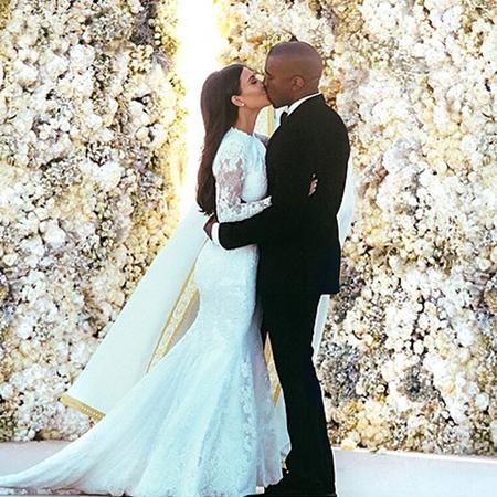 キム・カーダシアンの結婚式写真、インスタグラム史上最多「いいね!」を記録!