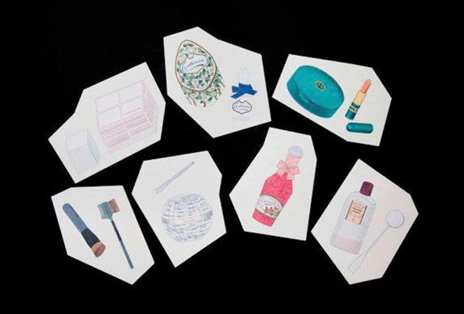 SHISEIDO THE GINZAで「フィリップ ワイズベッカーが描いた化粧品たち」が開催中