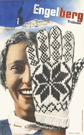 ヘルベルト・マター『「エンゲルベルク・スキー場」ポスター』(1935年)竹尾ポスターコレクション