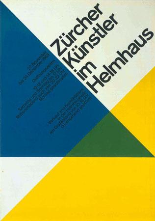 ハンス・ノイブルク『「チューリヒの作家たち展」ポスター』(1965年)宇都宮美術館蔵