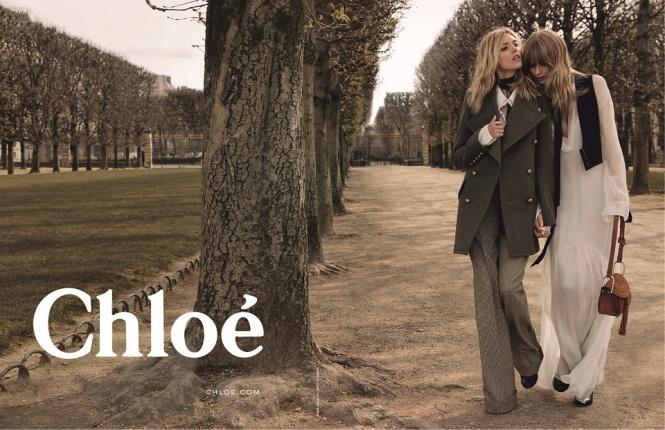 Chloé2015年秋冬キャンペーンはアンニャ・ルービックとジュリア・ステグナーが復活