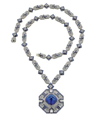 『ソートワール』(1969年)プラチナ、サファイア、ダイヤモンド(エリザベス・テイラー コレクション)