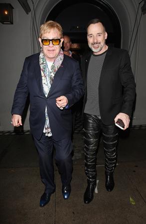 Elton John And David Furnish Leave Craig's Restaurant After Having Dinner