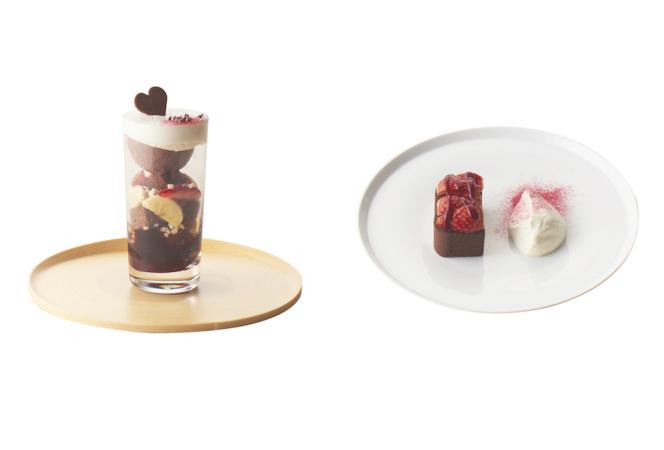 TORAYA CAFÉのバレンタインはあんとチョコを使ったスイーツ2種