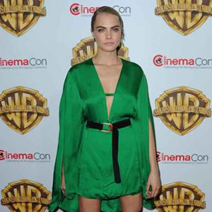 Celebrities attend CinemaCon 2016 Las Vegas  Pictured: Cara Delevigne Ref: SPL1262737  130416   Picture by: Photog Group / Splash News  Splash News and Pictures Los Angeles:310-821-2666 New York:212-619-2666 London:870-934-2666 photodesk@splashnews.com
