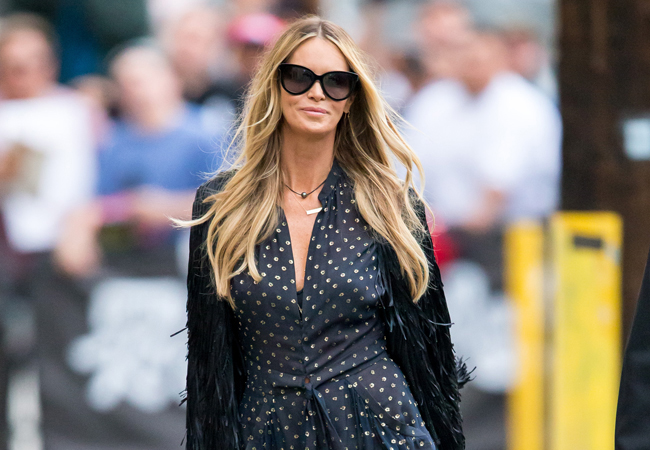 Elle Macpherson arrives at 'Jimmy Kimmel Live!' in Hollywood, California