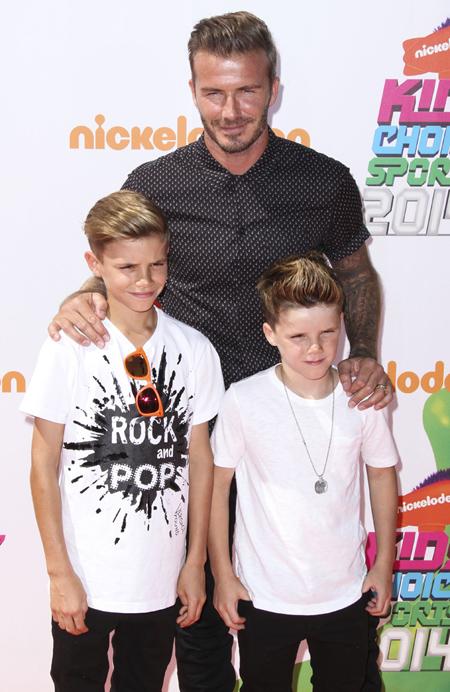 Cruz Beckham, David Beckham, Brooklyn Beckham, Victoria Beckham
