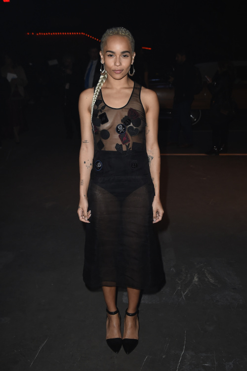 NEW YORK, NY - DECEMBER 08:  Zoe Kravitz attends Coach 75th Anniversary: Women's Pre-Fall and Men's Fall Show on December 8, 2016 in New York City.  (Photo by Nicholas Hunt/Getty Images for Coach)