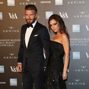 ALEXANDER MCQUEEN: SAVAGE BEAUTY GALA AT THE VICTORIA AND ALBERT MUSEUM in London  Pictured: David Beckham, Victoria Beckham Ref: SPL970894  120315   Picture by: Splash News  Splash News and Pictures Los Angeles:	310-821-2666 New York:	212-619-2666 London:	870-934-2666 photodesk@splashnews.com