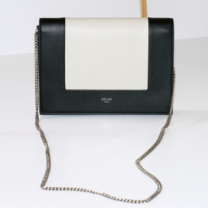 FRAME evening chain clutch whiteblack