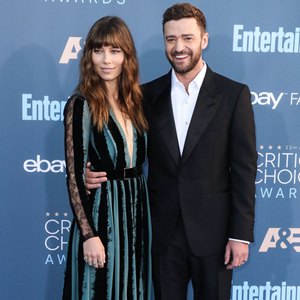 Jessica Biel and husband Justin Timberlake arrive at the 22nd Annual Critics' Choice Awards