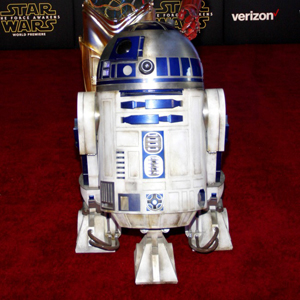 R2D2 and 3-CPO at the World premiere of..........
