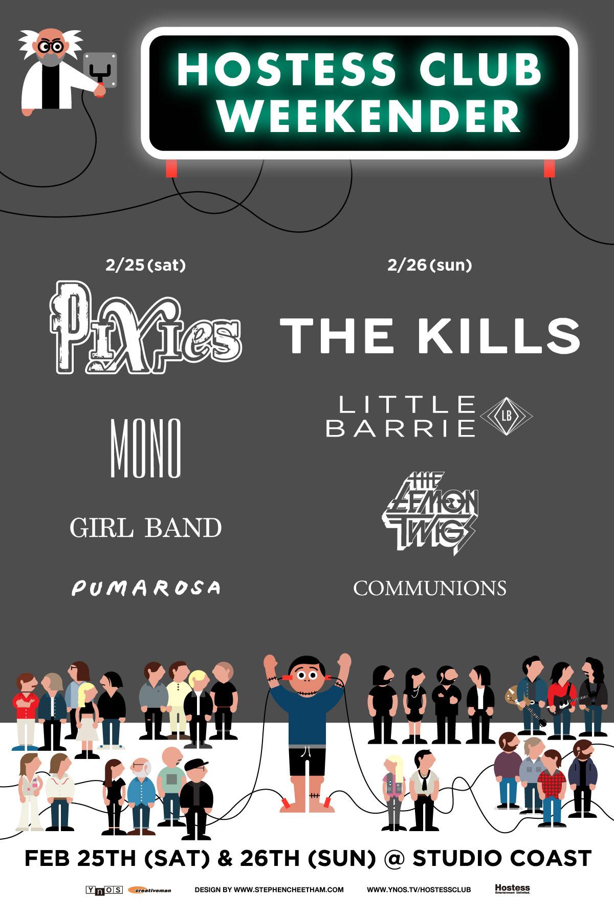 thekills, pixies, mono, hostessclubweekender, LittleBarrie, Communions