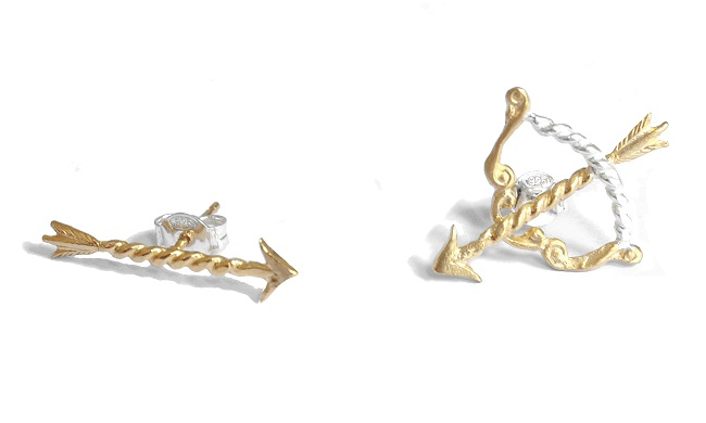 GOLDIE 8_BOW AND ARROW STUDS