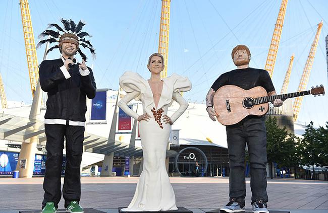 ジャミロクワイ, Jamiroquai, セリーヌ・ディオン, Celine Dion, エド・シーラン, Ed Sheeran