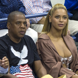 Jay Z and Beyoncé attend the US Open and take in Serena Williams match against Vania King played on Arthur Ashe Stadium at the The USTA Billie Jean King National Tennis Center in Flushing Queens