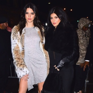 Kendall and Kylie Jenner were spotted cozying up outside of their NYFW Launch party in Tribeca on Monday. The cute sisters giggled as they hugged each other while posing for photos outside the party. They wore their own Kendall + Kylie Clothing , with the addition of fur coats.  Pictured: Kendall Jenner, Kylie Jenner Ref: SPL1223041  080216   Picture by: 247PAPS.TV / Splash News  Splash News and Pictures Los Angeles:310-821-2666 New York:212-619-2666 London:870-934-2666 photodesk@splashnews.com