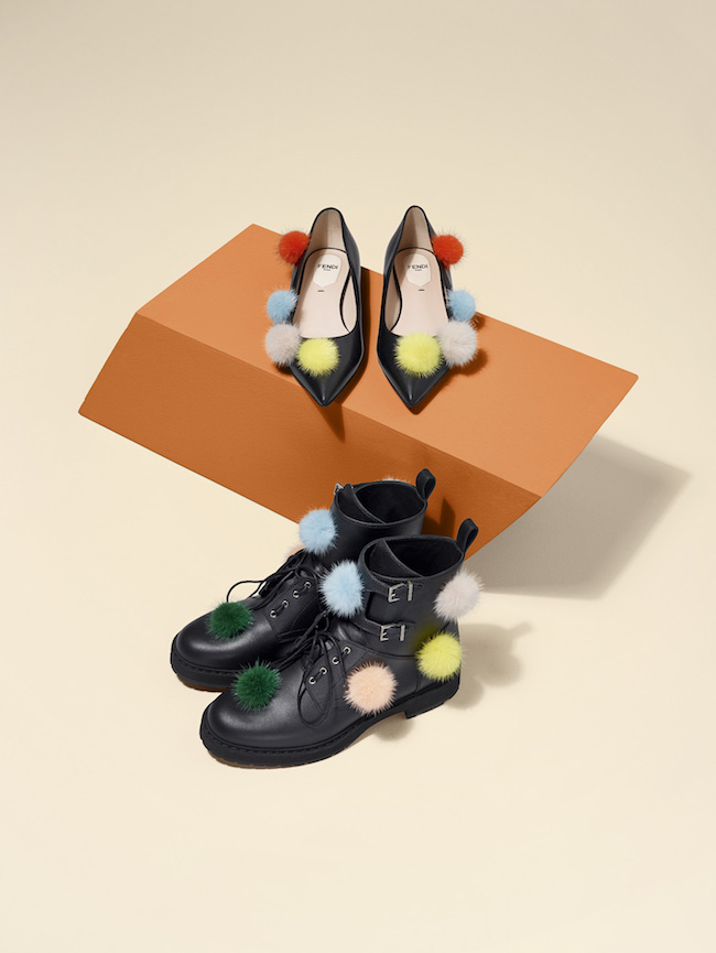 02_FENDI Multicolour Fur Pompons_Shoes
