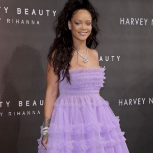 Rihanna attends Fenty Beauty by Rihanna launch at Harvey Nichols, London, UK