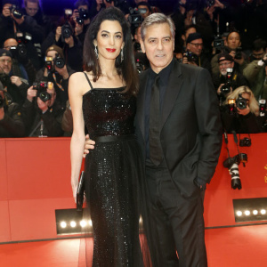 George Clooney and wife Amal attend at the Berlinale opening
