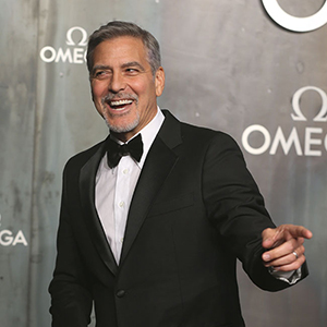 George Clooney arrives at a Party to celebrate 60 years of The Omega Speedmaster at the Tate Modern, London, UK