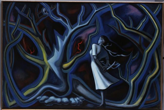 岡本太郎『夜』1947年