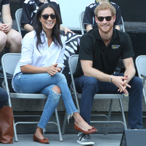 Prince Harry and Meghan Markle attend the Tennis at the Invictus Games in Toronto.  Pictured: Prince Harry and Meghan Markle Ref: SPL1588098  250917   Picture by: Splash News  Splash News and Pictures Los Angeles:310-821-2666 New York:212-619-2666 London:870-934-2666 photodesk@splashnews.com