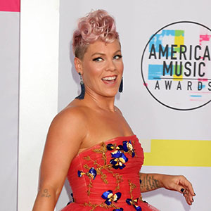 Celebrity arrivals at the '2017 American Music Awards' at Microsoft Theater in Los Angeles, California, USA.  Pictured: Pink Ref: SPL1623105  191117   Picture by: Splash News  Splash News and Pictures Los Angeles:310-821-2666 New York:212-619-2666 London:870-934-2666 photodesk@splashnews.com