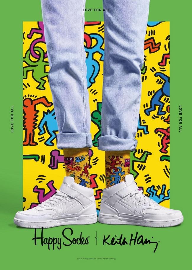 キースへリング、ソックス、Happy Socks,Keith Haring,Valentine,Gift,