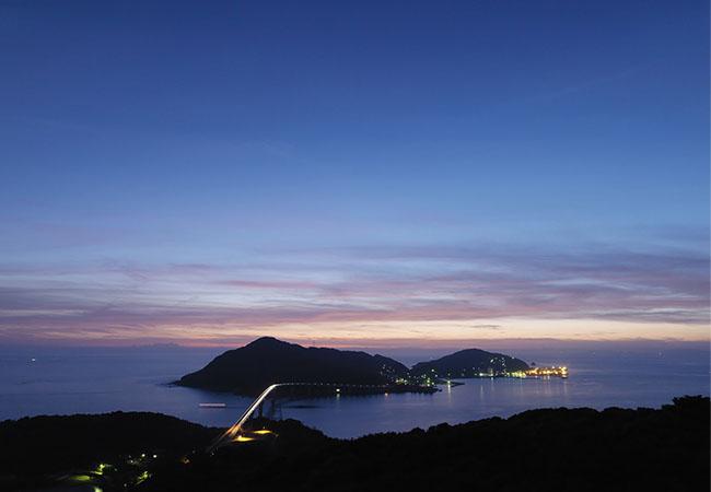 美しい伊王島の夕景