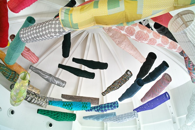 須藤玲子+アドリアン・ガルデール『こいのぼり』(2014年) フランス国立ギメ東洋美術館展示風景