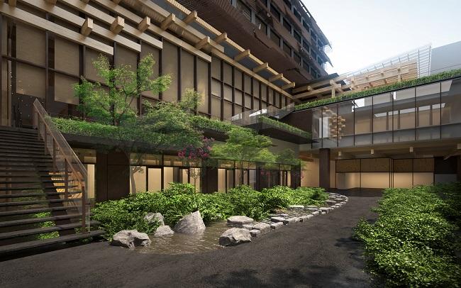 京都「新風館」1階の中庭