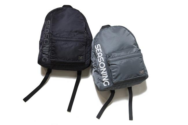 シーズニング × ポーター デイバッグ(ブラック、グレイ2色展開)¥38,000