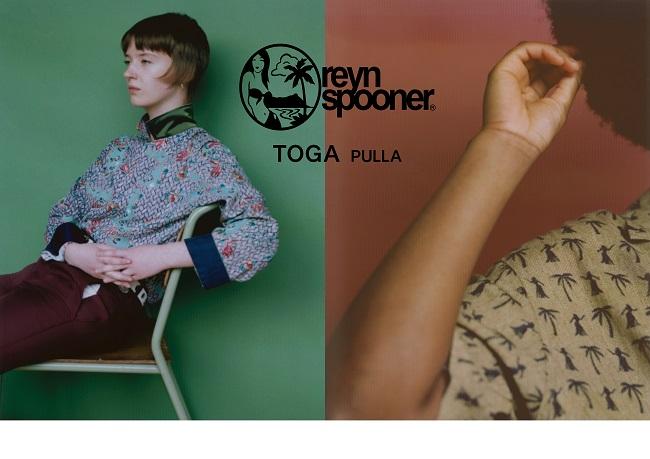 トーガ プルラ ×レインスプーナー ハワイアンシャツ長袖 ¥36,000、ハワイアンシャツ半袖 ¥34,000