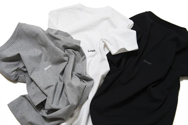 シーズニング Tシャツ(メニュー、ランチ、ディナー3色展開)¥9,000