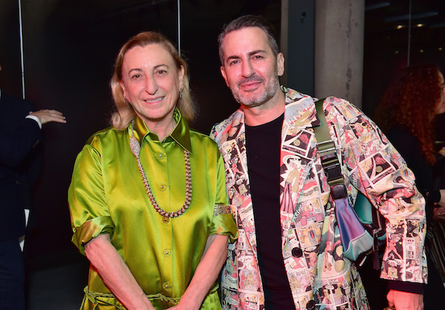 Miuccia Prada and  Marc Jacobs Photo by Sean Zanni/Getty Images)