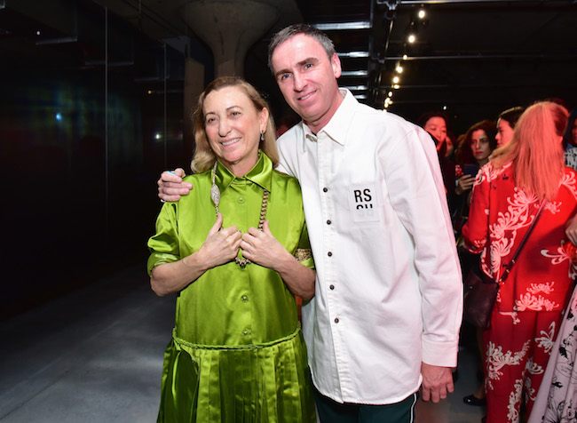 Miuccia Prada and Designer Raf Simons Photo by Sean Zanni/Getty Images