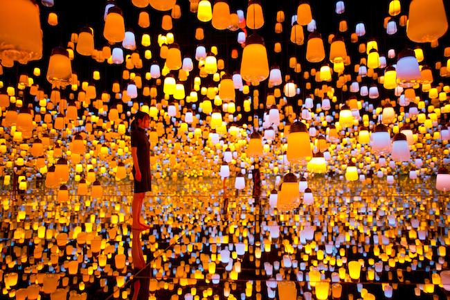 無数のランプが浮かぶ『ランプの森』